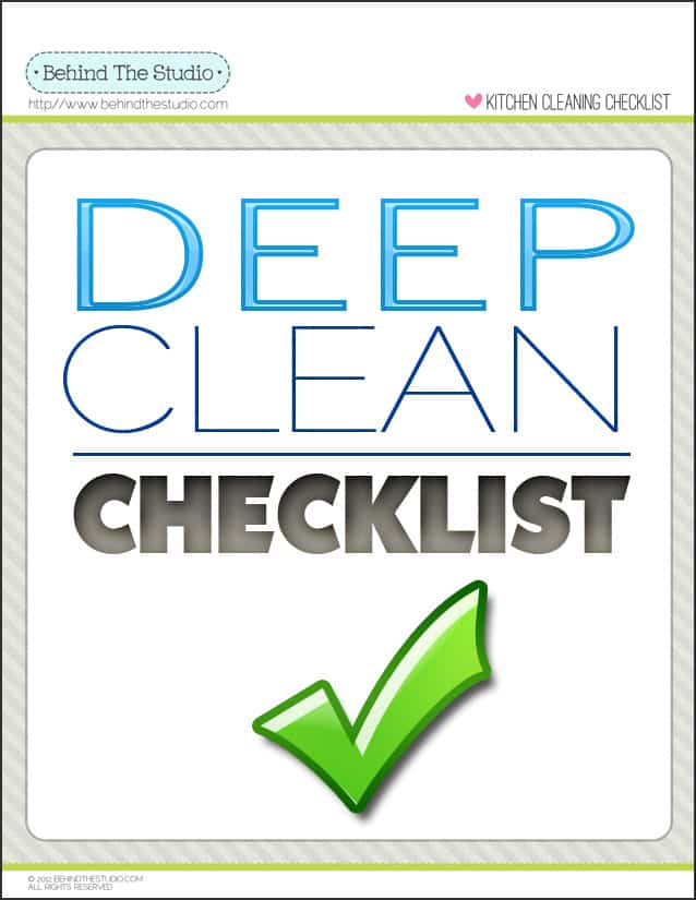 Cleaning House Deep Cleaning House Checklist