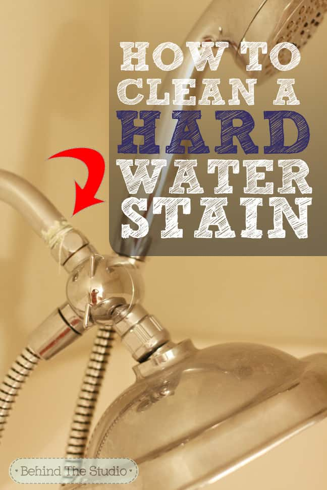 How to clean a hard water stain