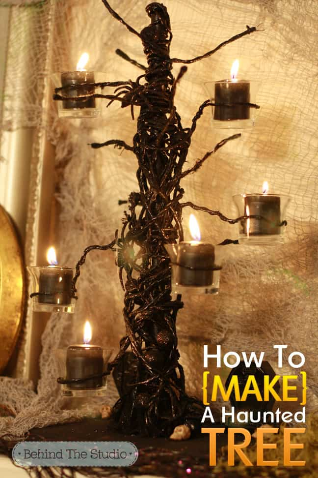 How to make a haunted tree decoration
