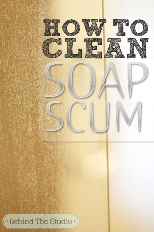 How to clean soap scum off a glass shower door @jayna