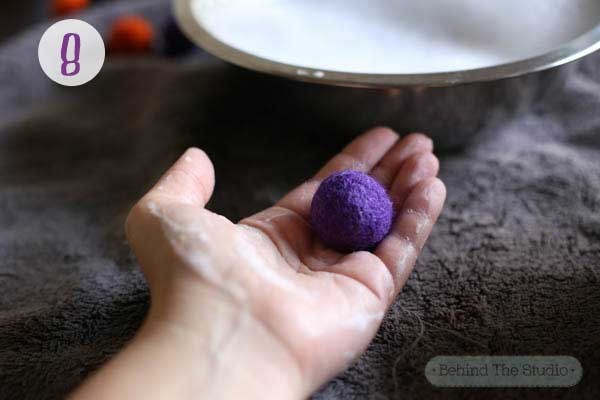 feltballs made with palmolive dish soap #Palmolive25Ways #CollectiveBias #shop