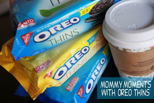Enjoying my mommy moments with Oreo Thins from CVS #OREOThinsAreIn