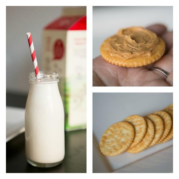 My morning protein source - milk & PB #AD #ic #mymorningprotein
