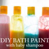 Bath paint DIY with baby shampoo #CareToRecycle #CG