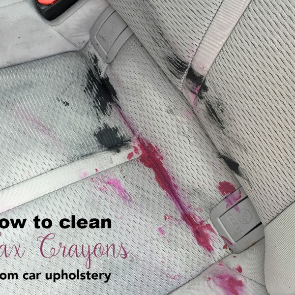 How to clean melted wax crayon from car upholstery