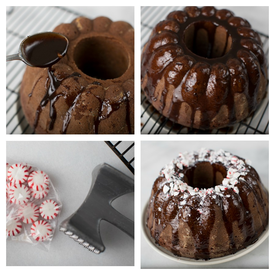 Immaculate chocolate peppermint bundt cake - #ImmaculateHolidays #ImmaculateBaking #AD