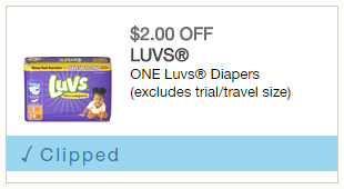 Luvs Diapers 2$ off coupon - #SharetheLuv #AD