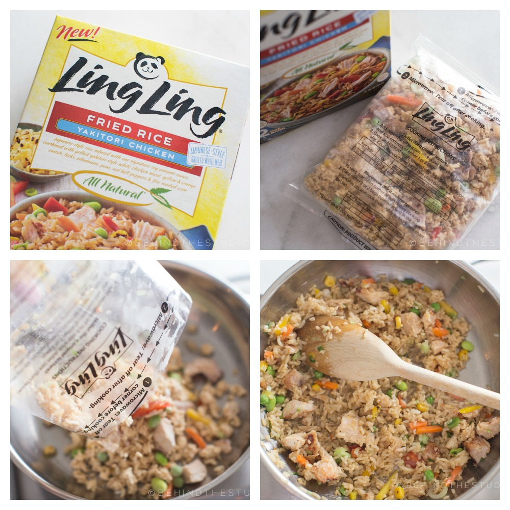 five minute fried rice with Ling Ling #FriedRiceFriday #IC #AD